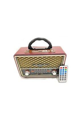 Bluetooth Hoparlör Taşınabilir Usb/sd/aux/fm 5 Band Radyo Nostalji Müzik Kutusu Rt- 809