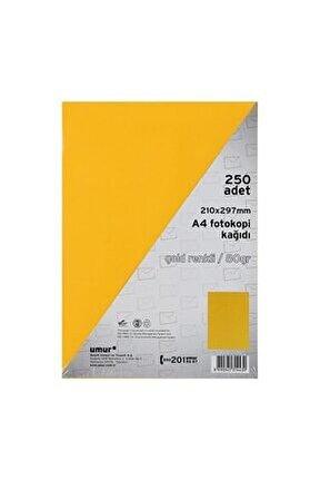 Altın Sarısı A4 Renkli Fotokopi Kağıdı 80 g 250 Yaprak
