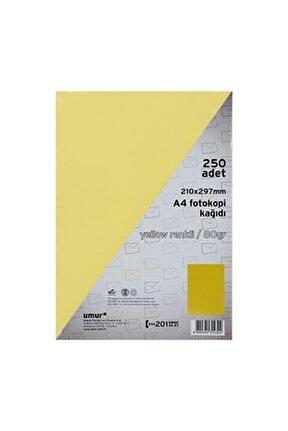 Fotokopi Kağıdı A4 80gr Renkli Yellow 160