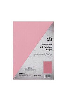 2412 A4 Pembe 250 li Renkli Fotokopi Kağıdı