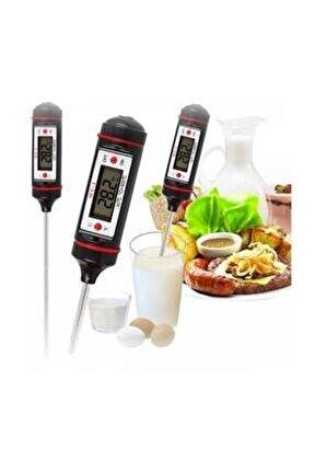 Dijital Mutfak Termometresi Dijital Termometre Süt Mama Barbekü Gıda Termometresi
