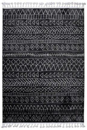 Çam Halı Libas Lb1601 Antrasit Gri Iskandinav Tarzı Modern Halı