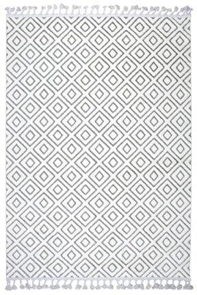 Çam Halı Libas Lb1608 Beyaz Gri Iskandinav Tarzı Modern Halı