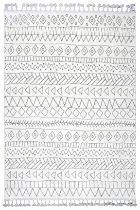 Çam Halı Libas Lb1604 Beyaz Gri Iskandinav Tarzı Modern Halı