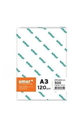 A3 Gramajlı Fotokopi Kağıdı 120 Gr 1 Paket 500 Yaprak
