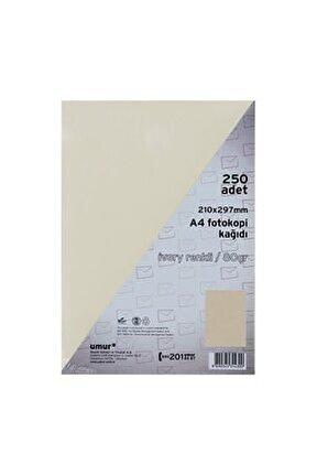 Krem A4 Renkli Fotokopi Kağıdı 80 g 250 Yaprak