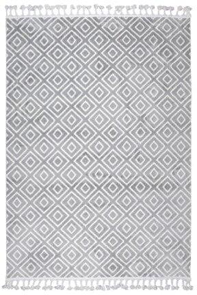 Çam Halı Libas Lb1606 Gri Bej Iskandinav Tarzı Modern Halı