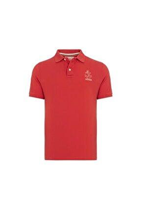 Erkek Kırmızı Pamuklu Polo Yaka T-shirt