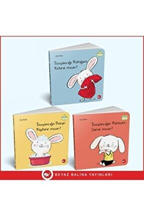 0-3 Yaş Resimli Interaktif Çocuk Kitapları Seti / Tavşancık Serisi