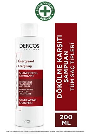 Dercos Energisant Shampoo - Dökülme Karşıtı Bakım Şampuanı 200ml