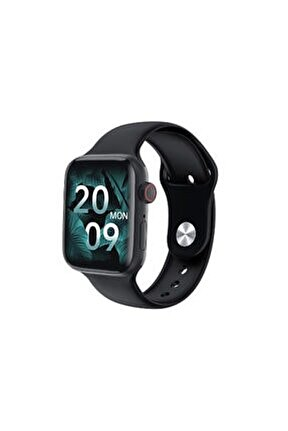 Siyah Hw22 Smart Watch Bluetooth Nabız Ölçme Sporcu Özellikli 1.75 Inç Akıllı Saat