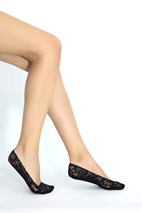 Siyah Dantelli Suba Çorap - 500