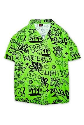 Unisex Yeşil Billie Eilish Gömlek