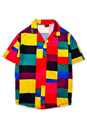 Renkli Kareli Gömlek