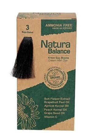 Natura Balance - Organik Krem Saç Boyası 3 Koyu Kahve 60 ml