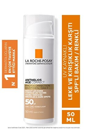 Anthelios Age Correct Cc Cream Tinted Spf50 50 ml