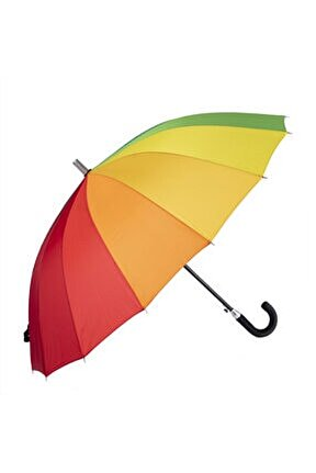 04125-u45 Uzun Gökkuşağı Şemsiye