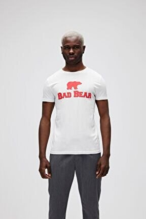 Erkek Beyaz Tee Off Whıte -red T-shirt