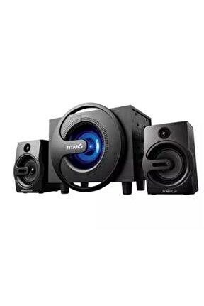 Mini 2+1 Hoparlör Ses Sistemi Süper Bass Usb Tf Kart Icon Bt-6054