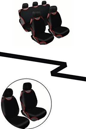 Kolay Takılabilen Ön Arka Oto Atlet Koltuk Kılıfı + 5 Başlık (siyah)