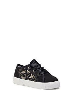 Kız Çocuk Siyah Piuma Lace   Sneakers Fı7pılfab12