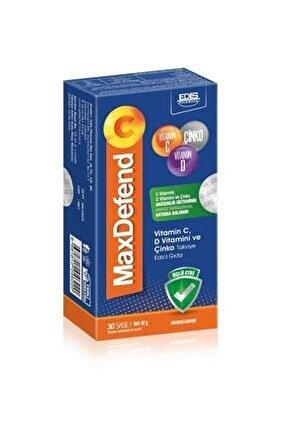 Maxdefend C Vitamin C, Vitamin D Ve Çinko 30 Saşe