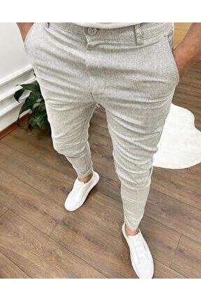 Erkek Keten Likralı Kumaş Kesim Petek Pantolon