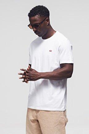 Erkek Beyaz Bisiklet Yaka T Shirt 56605-0075-76-77