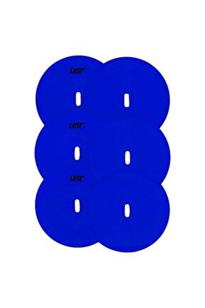 YYM 6 lı Yuvarlak Yer İşareti Seti Mavi