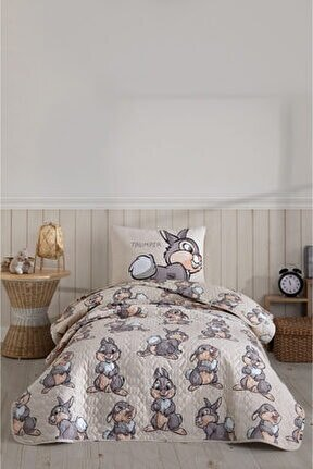 Rabbit Tek Kişilik Kapitone Yatak Örtüsü