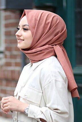 Kadın Kiremit Cotton Pamuk Şal Ck01