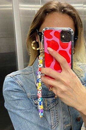 Renkli Göz Boncuk Telefon Bilek Askısı