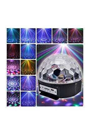 Led Kristal Küre Disko Topu 6 Renk-usb-sese Duyarlı Uzaktan Kumandalı