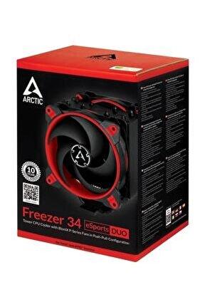 Freezer 34 Esports Duo Intel 2066, 2011-3, 1151, 1150, 1156, 1155 Amd, Am4 Kırmızı Cpu Soğutucu