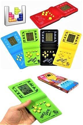 Tetris Oyun Konsolu El Atarisi Nostaljik Oyuncak Brick Game 9999 Oyunlu