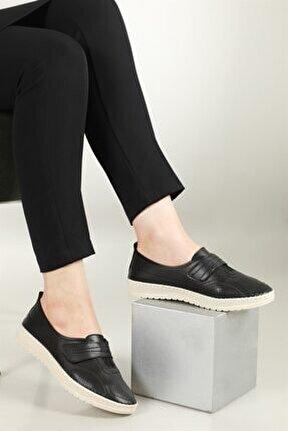 Nefes Alır Jelli Ortopedik Siyah Kadın Ayakkabı W-521