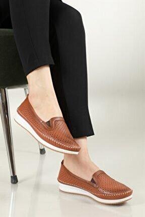 Nefes Alır Jelli Ortopedik Taba Kadın Ayakkabı W-009