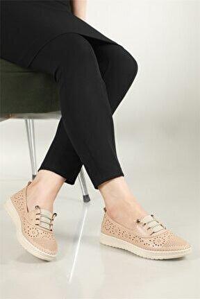 Nefes Alır Jelli Ortopedik Ten Kadın Ayakkabı W-522