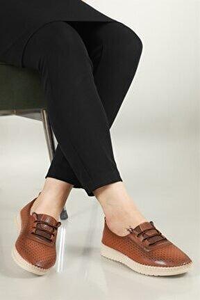 Nefes Alır Jelli Ortopedik Taba Kadın Ayakkabı W-531