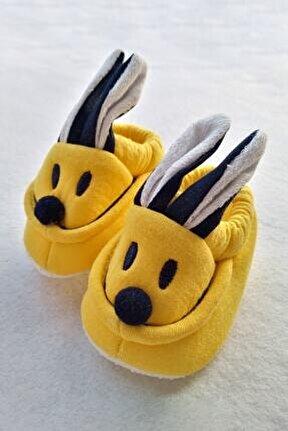 Bebek Sarı Kulaklı Panduf Patik