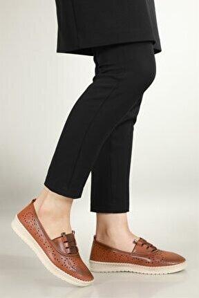 Nefes Alır Jelli Ortopedik Taba Kadın Ayakkabı W-522