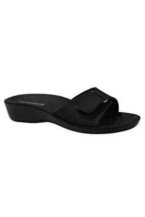 Siena-4 Siyah Ortapedik Bayan Terlik & Sandalet
