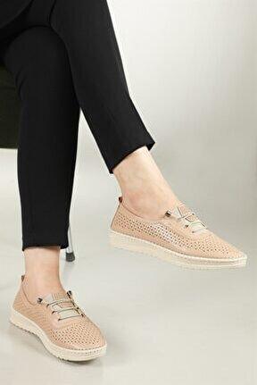 Nefes Alır Jelli Ortopedik Ten Kadın Ayakkabı W-531