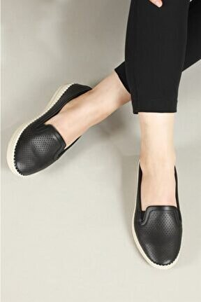 Nefes Alır Jelli Ortopedik Siyah Kadın Ayakkabı W-523