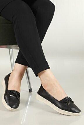 Nefes Alır Jelli Ortopedik Siyah Kadın Ayakkabı W-529