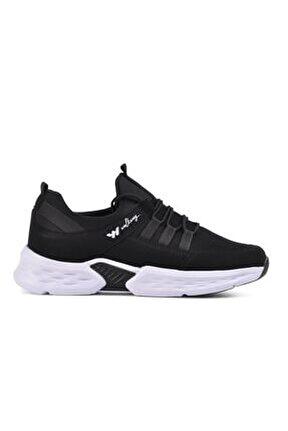 Erkek Siyah Beyaz Montreal  Spor Ayakkabı
