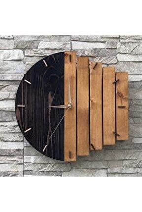 Ahşap Geometrik Duvar Saati