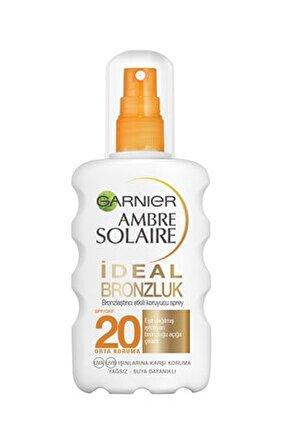 Ambre Solaire İdeal Bronzlaştırıcı Etkili Güneş Koruyucu Sprey GKF20 200ML