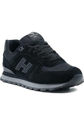 Unisex Siyah Hakiki Deri Spor Ayakkabı