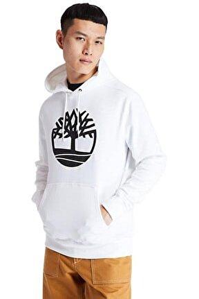 YC CORE TREE LOGO PULL OV Beyaz Erkek Sweatshirt 101096681